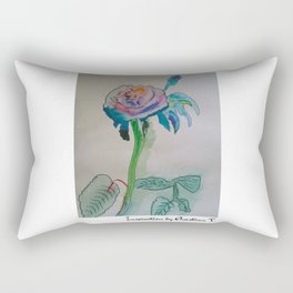 Flower rainbow inspiration modern paintings by Christian T. Rectangular Pillow