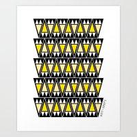 Dusk Arrowheads Art Print