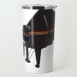 Great Gift For Piano And Cat Lover. Shirt Ideas Travel Mug