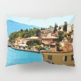 Limone Sul Garda Lake Garda Italy photo painting  Pillow Sham