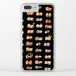 Sushi set Clear iPhone Case