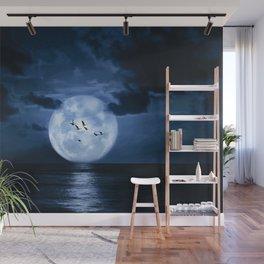 Full Moon Ocean Wall Mural