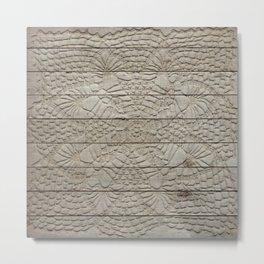 Wood Lace Metal Print