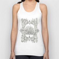 military Tank Tops featuring Military Peacock by Vicki Jones