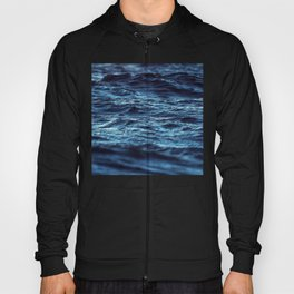 Shinning deep blue perfect waves close up stamp pattern Hoody