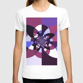 Purple Magenta Periwinkle Kaleidoscope Mangala T-shirt