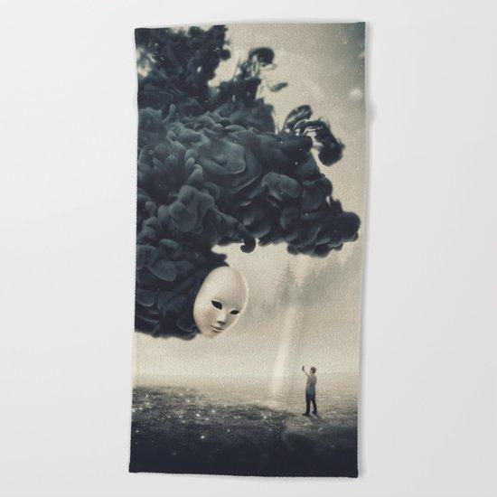 The Selfie Dark Surrealism Beach Towel