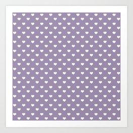 Lavender 4 hearts Art Print