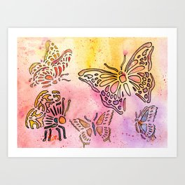 Bespeckled Flight Art Print