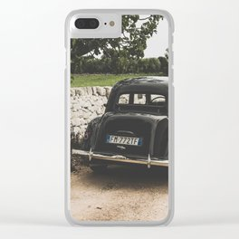 Citroën traction avant, Apulia photography, vintage car, old cars, sports car, Puglia photography Clear iPhone Case