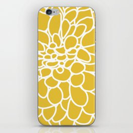 Mustard Yellow Modern Dahlia Flower iPhone Skin