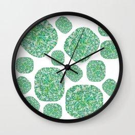Green Cushion Gem Pattern Wall Clock