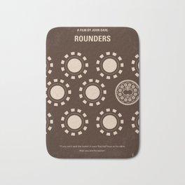 No503 My Rounders minimal movie poster Bath Mat