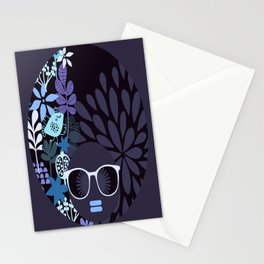 Afro Diva : Lavender Periwinkle Stationery Cards