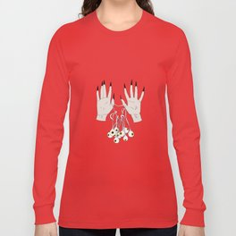 Creepy Hands Holding Eyes Long Sleeve T-shirt