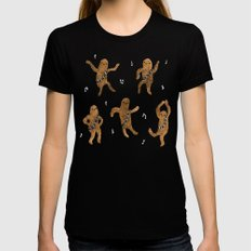 Wookie Dance Party Black Womens Fitted Tee SMALL