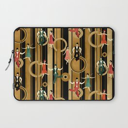 Art Deco Charleston Dancers Pattern Laptop Sleeve