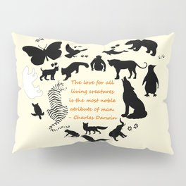 Love of the Animals Typography Pillow Sham