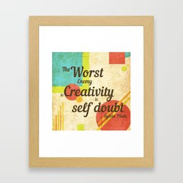 Inspirational Quote Sylvia Plath Framed Art Print