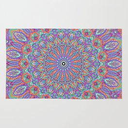 A little bit of Rainbow - Mandala Art Rug