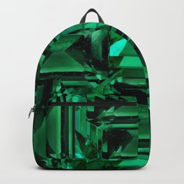 CLUSTERED FACETED EMERALD GREEN MAY GEMSTONES Backpack