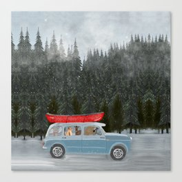 winter holiday Canvas Print
