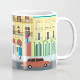 Havana, Cuba - Skyline Illustration by Loose Petals Coffee Mug
