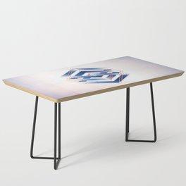 Indigo Hexagon :: Floating Geometry Coffee Table