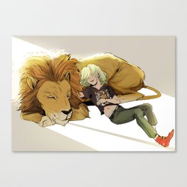 Yuri and Lion Canvas Print