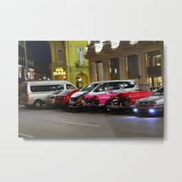 Cars in Old Havana Metal Print