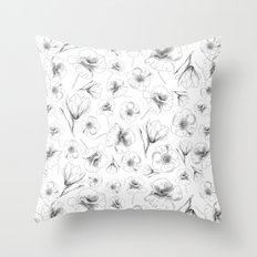 Minimal flowers Throw Pillow