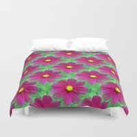cosmos Duvet Covers featuring Cosmos by Judi FitzPatrick