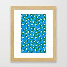 Sham-Rock on blue Framed Art Print