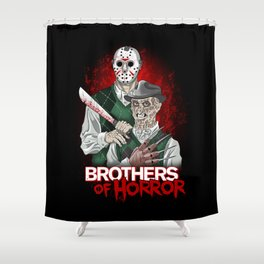 Brothers of Horror Shower Curtain