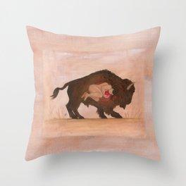 Heart of the Buffalo Throw Pillow