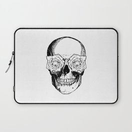 Skull and Roses | Black and White Laptop Sleeve