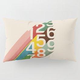 Retro Numbers Pillow Sham