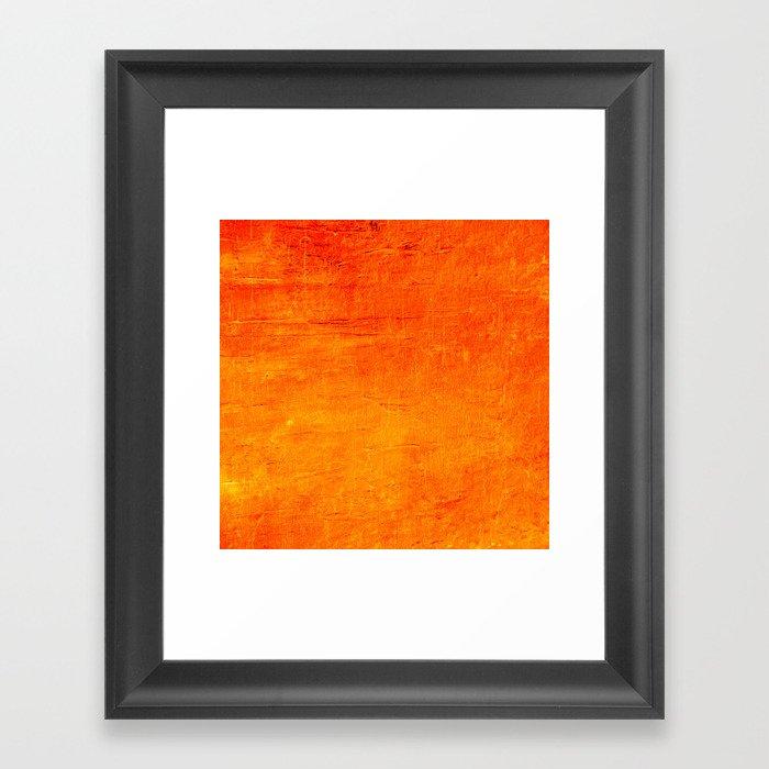 Orange Sunset Textured Acrylic Painting Gerahmter Kunstdruck