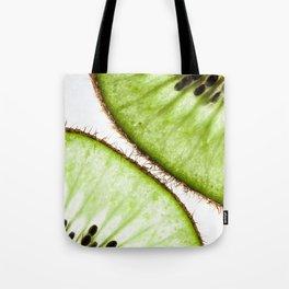 Macro photo of kiwifruit Tote Bag
