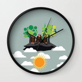 My Three Monkeys Wall Clock