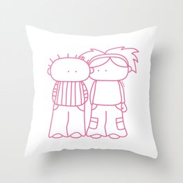 Rosy Love Throw Pillow