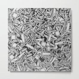 Toolbox DIY Tools Pattern Metal Print