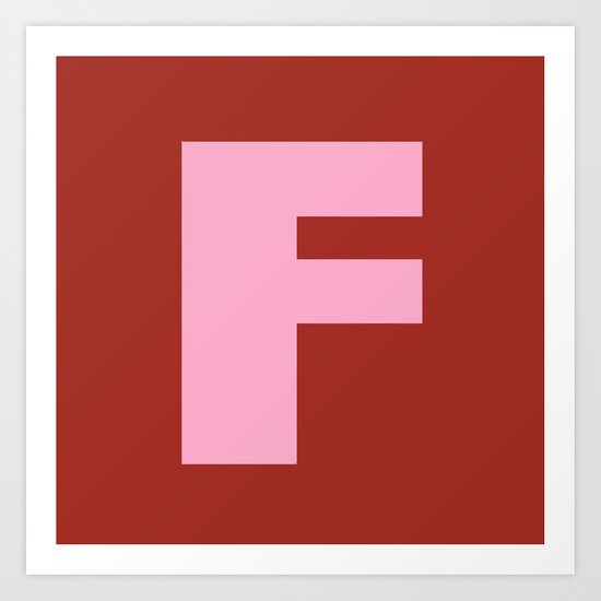 Pink F Art Print