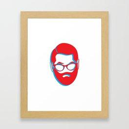 3D Beard man Framed Art Print