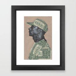 HUSSLE Framed Art Print
