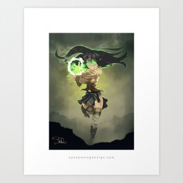 Anime Magic Art Print