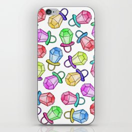 Retro 80's 90's Neon Colorful Ring Candy Pop iPhone Skin