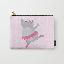 Hippo Ballerina Carry-All Pouch