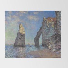 Claude Monet's The Cliffs at Etretat Throw Blanket
