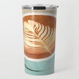 Coffee with Latte Art Polygon Art Travel Mug